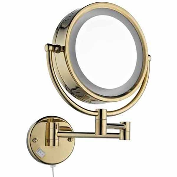 Купить Зеркало косметическое, 12201G с подсветкой Золото, Artik, Италия