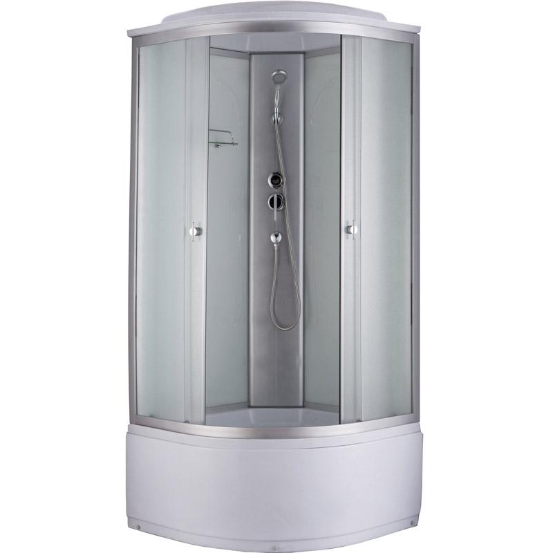 Niagara NG-2308 90x90 стекло матовое задние стенки Белые душевая кабина niagara ng 1701 01b 900х900х2200