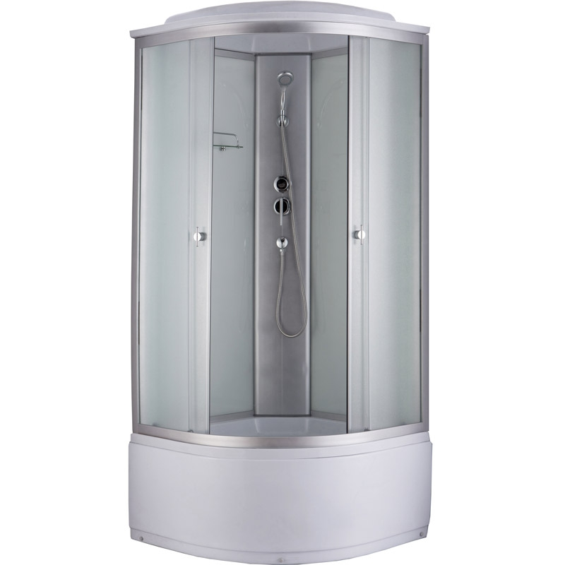 Niagara NG-2309 100x100 стекло матовое задние стенки Белые душевая кабина niagara ng 1701 01b 900х900х2200