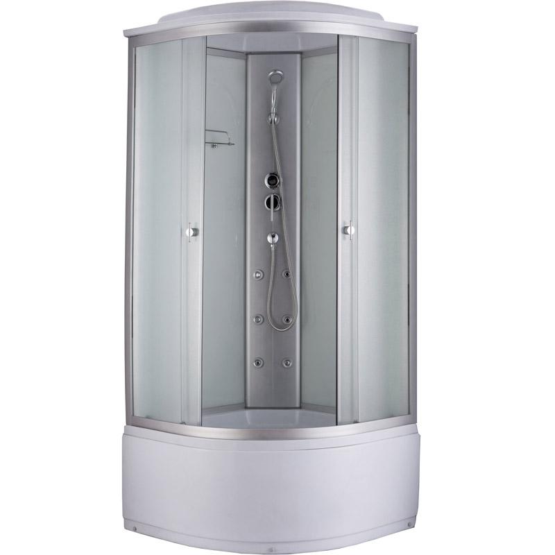 Niagara NG-2308G 90x90 стекло матовое задние стенки Белые душевая кабина niagara ng 1701 01b 900х900х2200