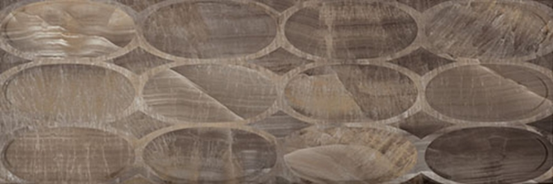 Керамическая плитка Gemma Delight Brown Geo настенная 30х90 см фото