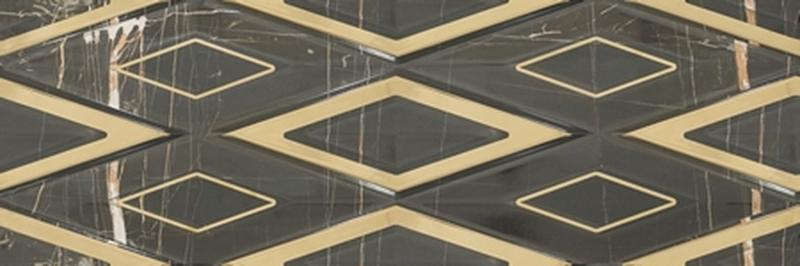цена на Керамическая плитка Gemma Galleria Single Black Gold настенная 30х90 см