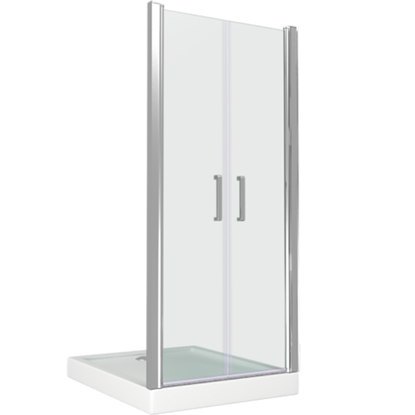 Душевая дверь в нишу Good Door Pandora SD90 90 профиль Хром стекло прозрачное maison laviniaturra платье до колена