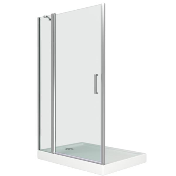 Душевая дверь в нишу Good Door Pandora WTW-140 140 профиль Хром стекло прозрачное