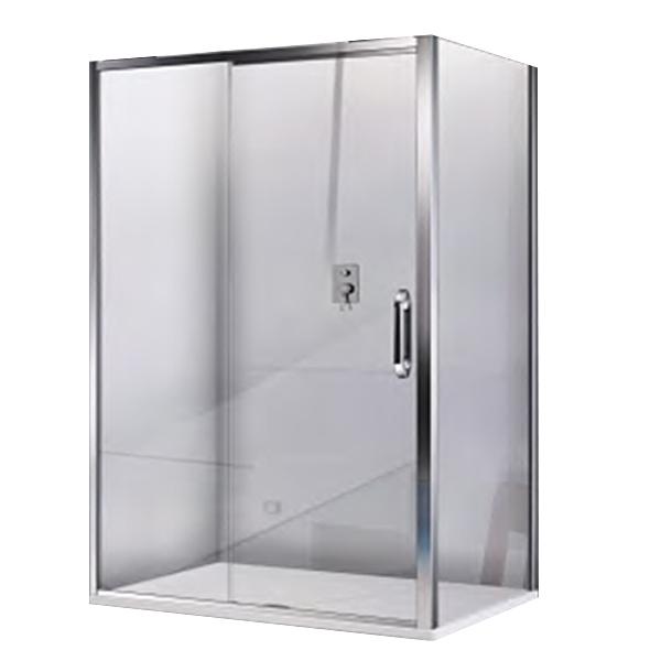 Душевая дверь в нишу Good Door Antares WTW-140 140 профиль Хром с узором Волна