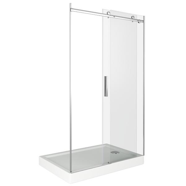 Душевая дверь в нишу Good Door Galaxy WTW-130-C-CH 130 профиль Хром стекло прозрачное