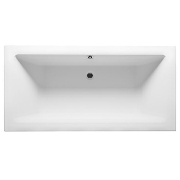 Акриловая ванна Riho Lugo Velvet 170x75 без гидромассажа ванна из искусственного камня jacob delafon elite 170x75 с щелевидным переливом e6d031 00 без гидромассажа