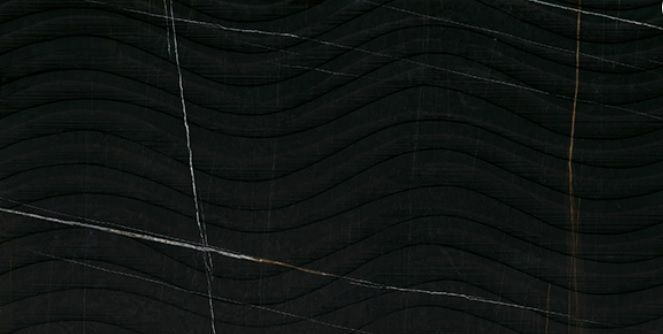 Керамогранит Impronta Marble Experience Sahara Noir Sq. Onda 120х60 см