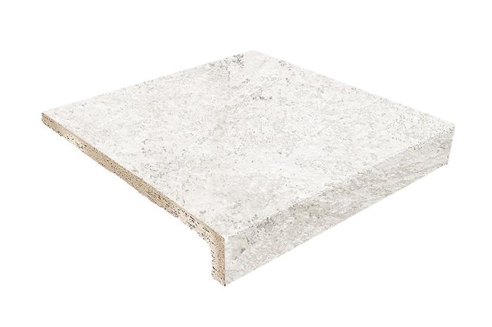 Ступень фронтальная Gresmanc Evolution Peldano Recto Evo White Stone 31х31,7 см