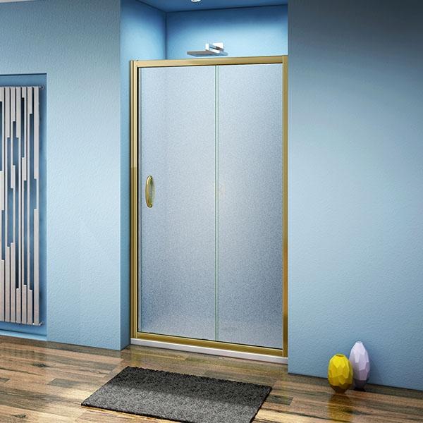 Душевая дверь Good Door Jazze WTW-130 130 профиль Бронза стекло Grape