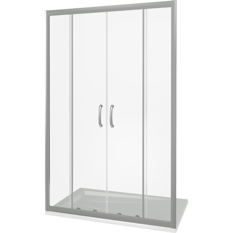 Душевая дверь в нишу Good Door Infinity WTW-TD-170 170 профиль Хром стекло Грейп фото