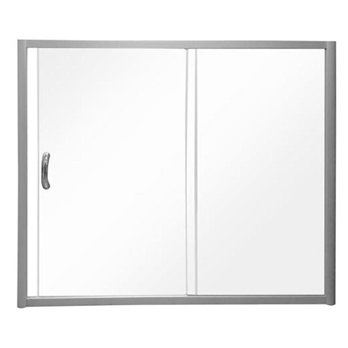 Шторка на ванну AM.PM Bliss L 150x150 профиль Хром стекло прозрачное