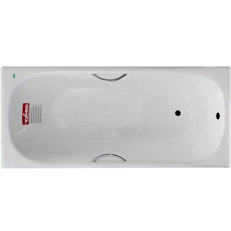 Чугунная ванна Timo Standard 3V 150x70 с ручками с антискользящим покрытием фото