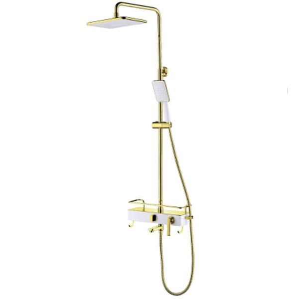 Душевая система Lemark Mista LM6462WG Белый Золото недорого