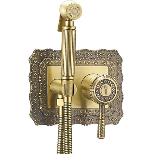 Гигиенический душ со смесителем Lemark Jasmine LM6619 Черная бронза смеситель для раковины lemark jasmine lm6609 черная бронза