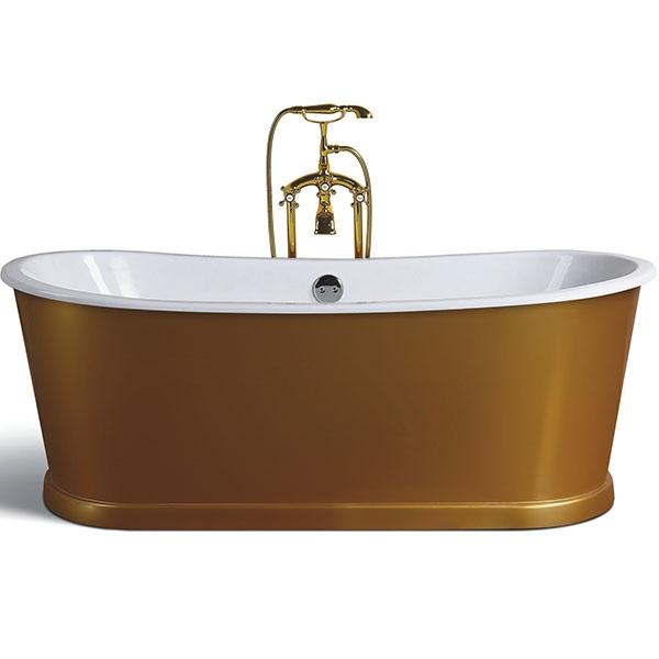 Чугунная ванна Sharking SW-1012 170x75 с панелью Золото