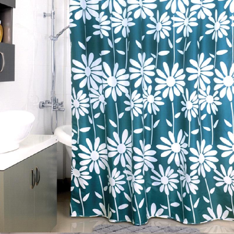 Штора для ванны Milardo Flowers Blue 200x180 - фото