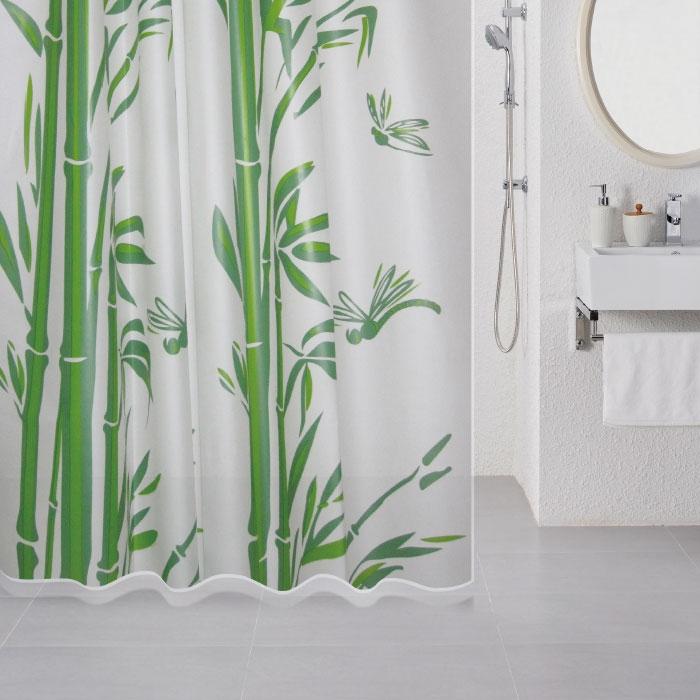Штора для ванны Milardo Bamboo (green) 180x180 Зеленая штора для ванны milardo nemesia 180x180 разноцветная