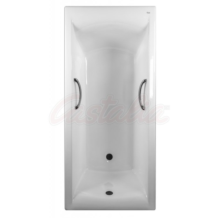 Чугунная ванна Castalia Prime 180х80 с ручками с антискользящим покрытием чугунная ванна castalia 150х70 с антискользящим покрытием