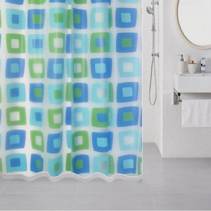 Штора для ванны Milardo Wonderful Cubes 180x180 Разноцветная фото