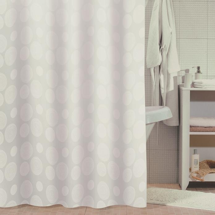 Штора для ванны Milardo White Mist 180x180 Белая штора для ванны milardo bamboo green 180x180 зеленая