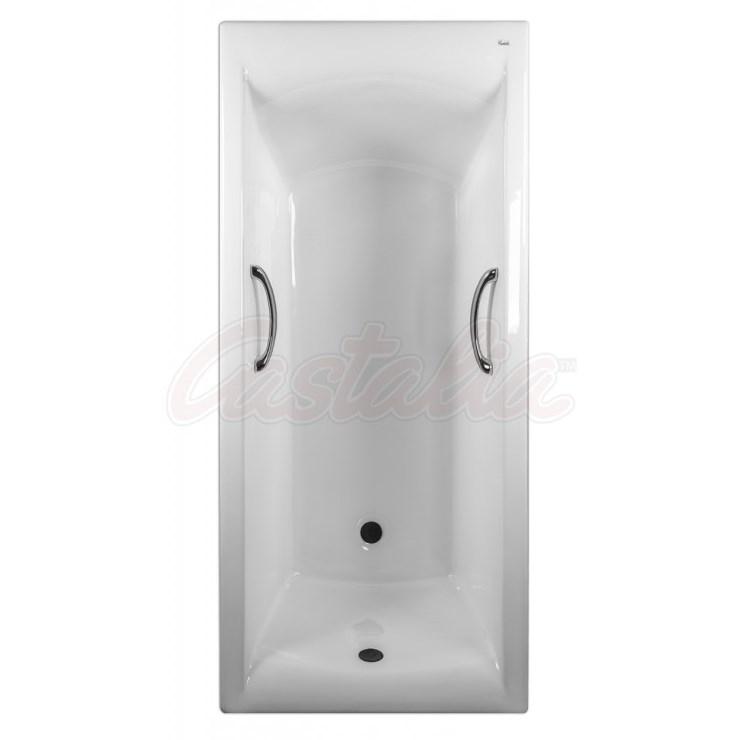 Чугунная ванна Castalia Prime 170х75 с ручками с антискользящим покрытием чугунная ванна castalia 150х70 с антискользящим покрытием