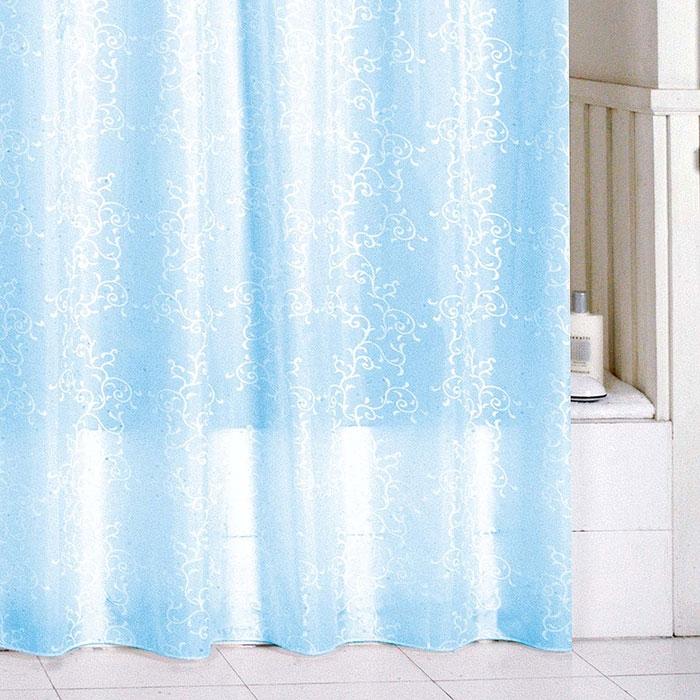 Штора для ванны Milardo Blue Leaf 200x180 Голубой