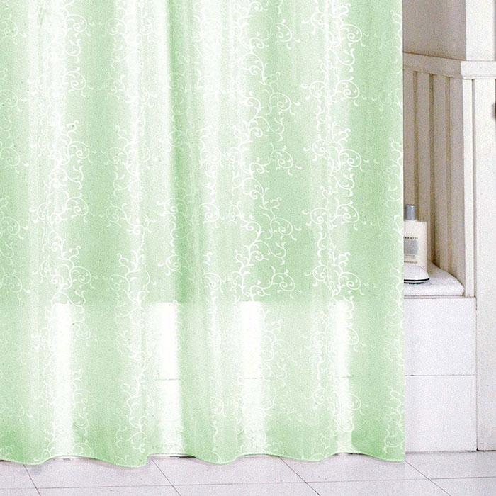 Штора для ванны Milardo Green Leaf 200x180 Зеленая