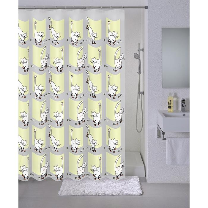 Штора для ванны Milardo Cozy cats 180x180 Разноцветная фото