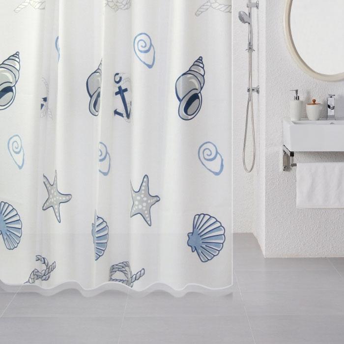 Штора для ванны Milardo Sea Fantasy 180x180 Разноцветная