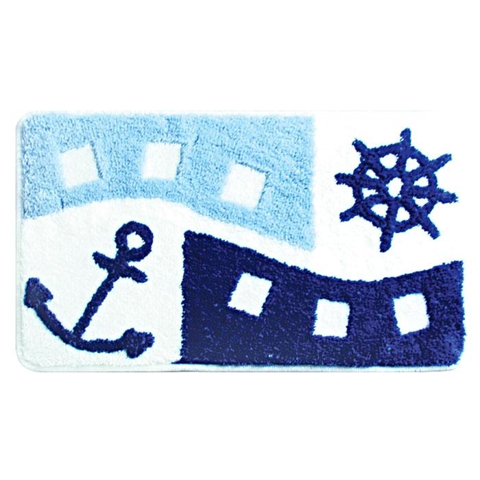 Коврик для ванной комнаты Milardo Sea Holiday 40x70 Голубой коврик milardo 400a470m12