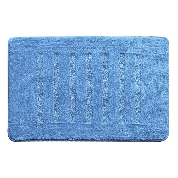 Коврик для ванной комнаты Milardo Blue Lines 50x80 Голубой коврик для ванной iddis fields 50x80 см mid199m