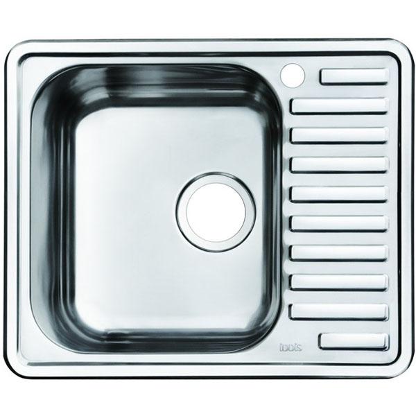 Кухонная мойка Iddis Strit STR58 чаша слева Хром полированный