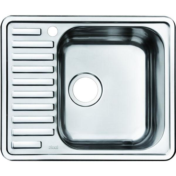 Кухонная мойка Iddis Strit STR58 чаша справа Хром полированный