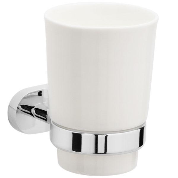 Стакан для зубных щеток Raiber R50102 Белый Хром стакан для зубных щеток raiber r53902 одинарный