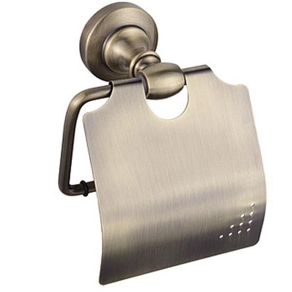 Держатель туалетной бумаги Raiber RB52007 с крышкой Бронза держатель для туалетной бумаги tw harmony twha219 бронза