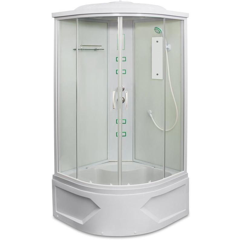 Душевая кабина Mirwell MR 4509ТP-С 90х90 с гидромассажем профиль Белый стекло прозрачное цена 2017