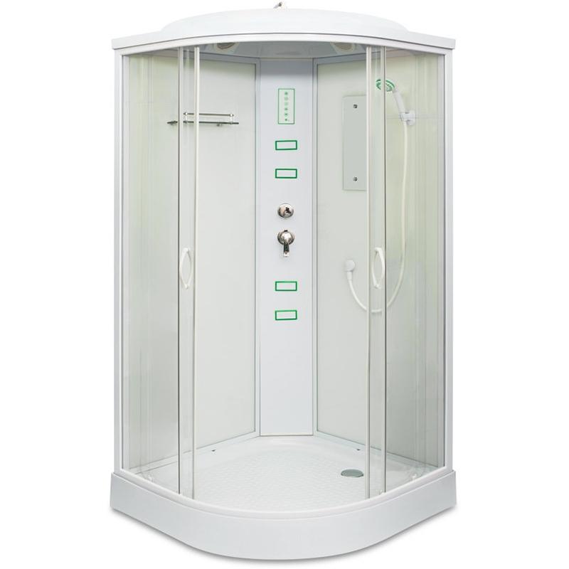 Душевая кабина Mirwell MR 4510P-С 100х100 с гидромассажем профиль Белый стекло прозрачное цена 2017
