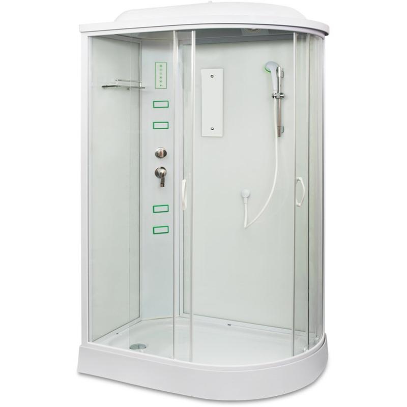 Душевая кабина Mirwell MR 4512P 120х80 R профиль Белый стекло матовое цена 2017