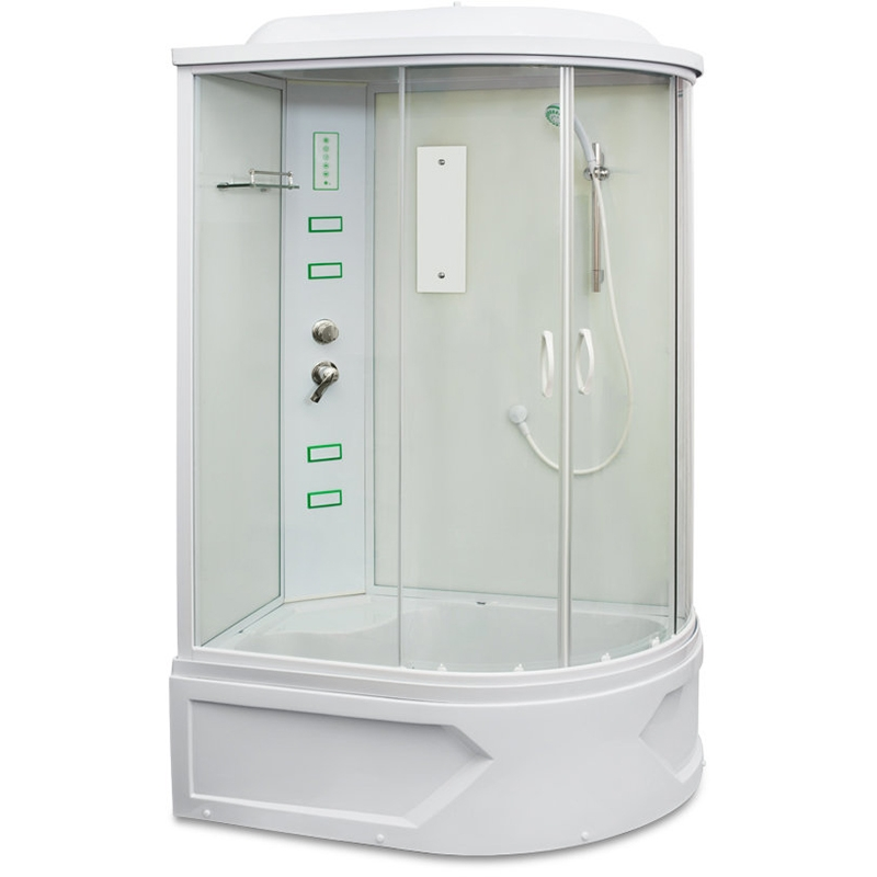 Душевая кабина Mirwell MR 4512TP 120х80 с гидромассажем L профиль Белый стекло матовое цена 2017