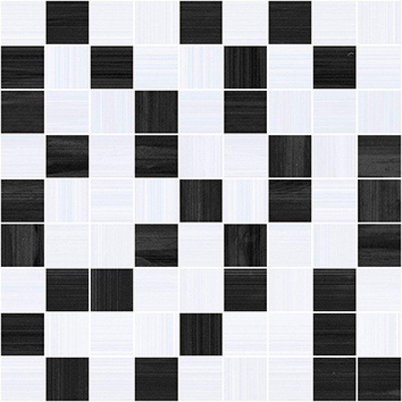 Керамическая мозаика Ceramica Classic Stripes чёрный-серый 30х30 см стоимость