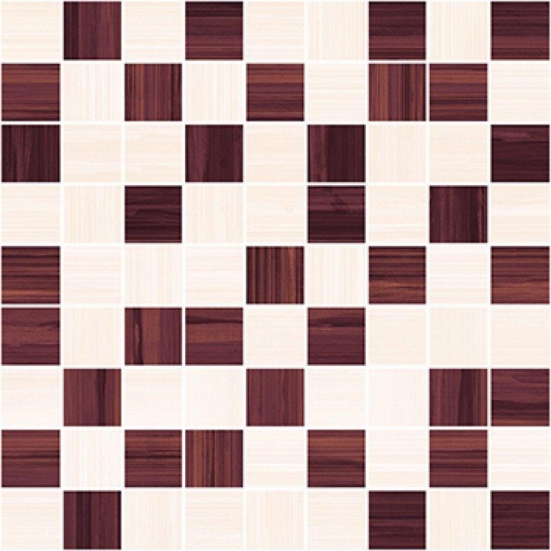Керамическая мозаика Ceramica Classic Stripes бордо-бежевый 30х30 см стоимость