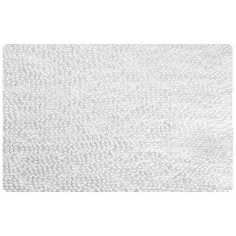 Коврик для ванной комнаты Iddis White leaf 50x80 Белый коврик для ванной iddis fields 50x80 см mid199m