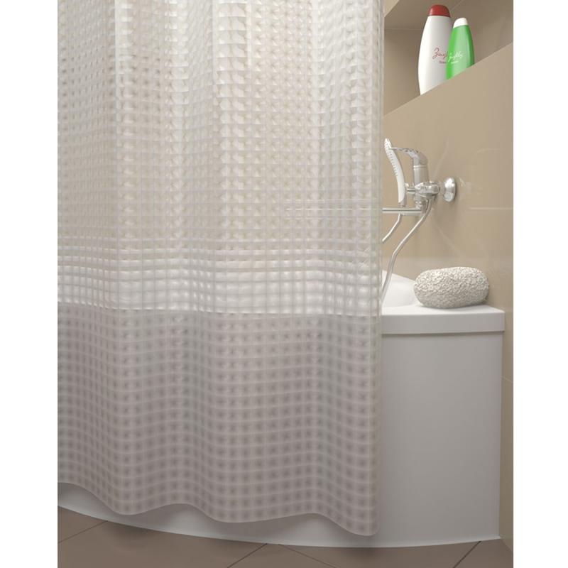 Штора для ванны Iddis Stereo Square 180x200 Прозрачная