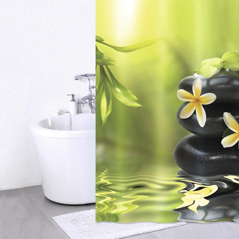 Фото - Штора для ванны Iddis Spa Therapy 180x200 Зеленый Черный штора для ванной iddis 680p18ri11 180x200 зеленый черный
