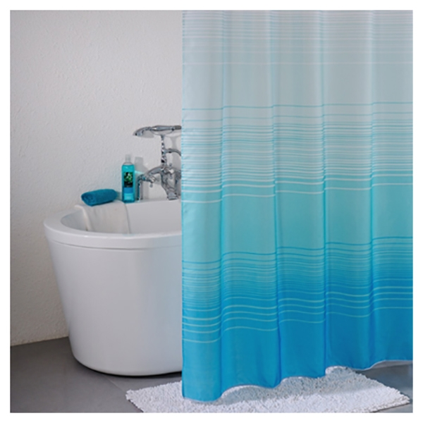 Фото - Штора для ванны Iddis Horizon 200x200 Синяя штора для ванны iddis cream balls 200x200 бежевая