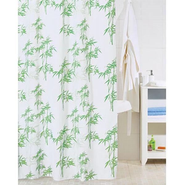 Штора для ванны Iddis Leaf 200x200 Белая Зеленая SCID010P