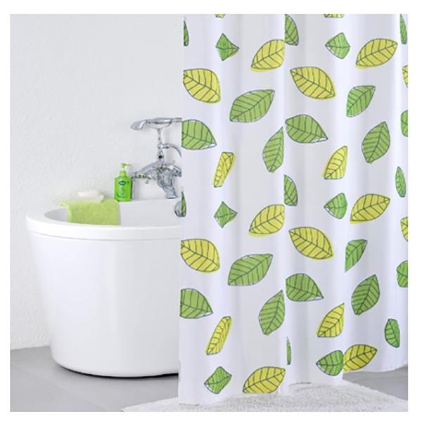 Штора для ванны Iddis Leaf 200x200 Белая Зеленая 200P24RI11