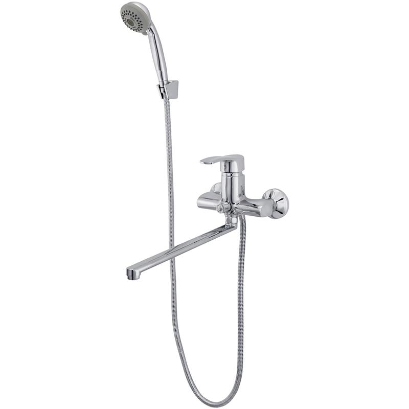 Смеситель для ванны Raiber Zoom R4002 универсальный Хром смеситель для ванны raiber zoom с душем хром r4002