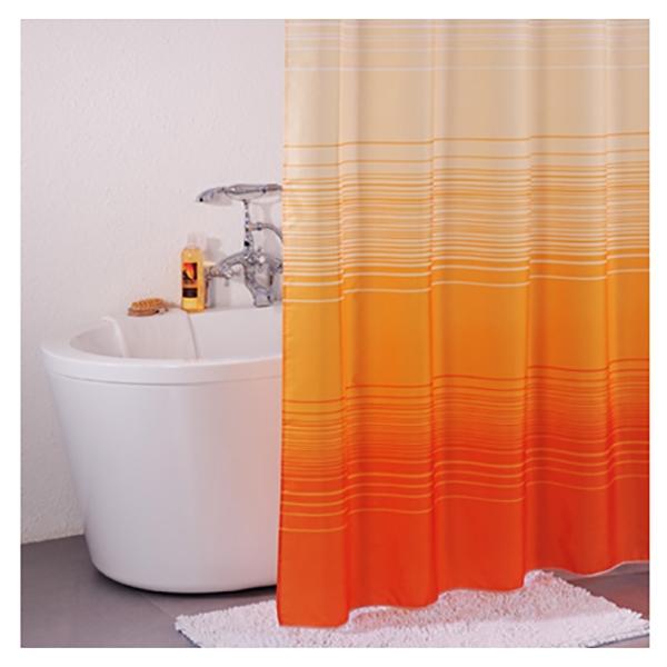 Штора для ванны Iddis Horizon Orange 200x200 Оранжевая штора для ванной комнаты iddis orange horizon 300p20ri11